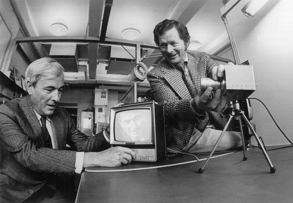Boyle and Smith (Photo Alcatel-Lucent/Bell Labs)