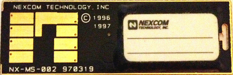 Rare original NexCom Serial Flash Module rear