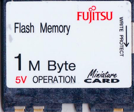 Miniature Flash Card front