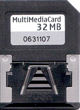 Reduced-Size Multimedia Card front