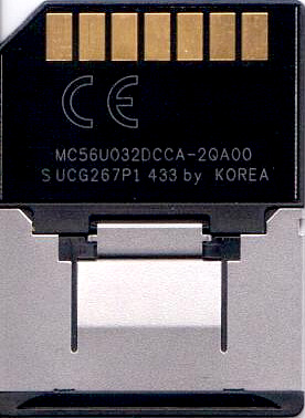 Reduced-Size Multimedia Card rear