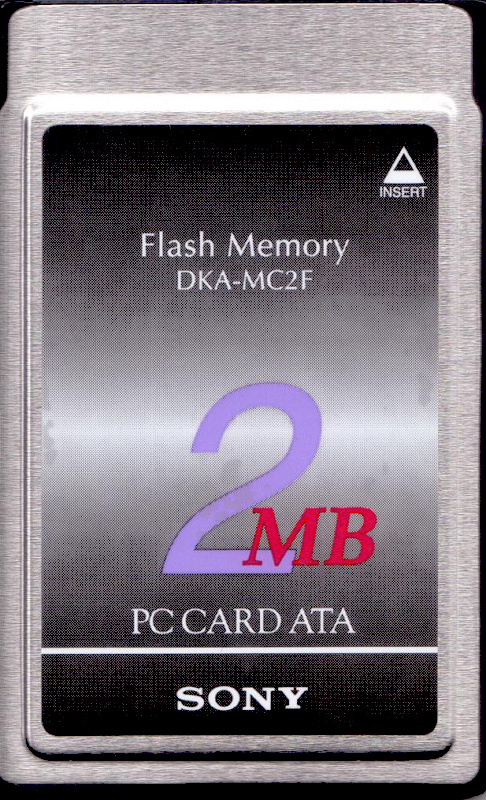 PC ATA Flash Card Type II front