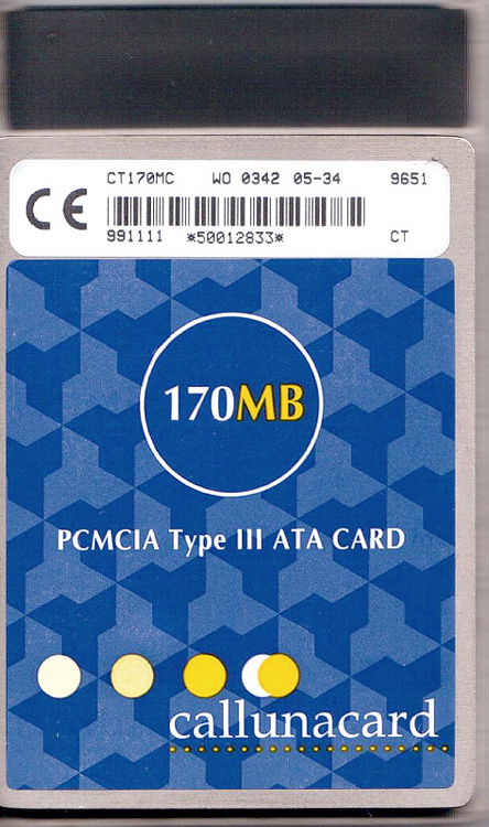 PC ATA Flash Card Type III front