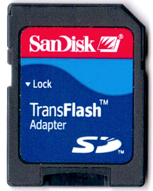 SD card adapter for microSD