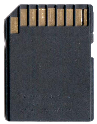 Regular SD card rear