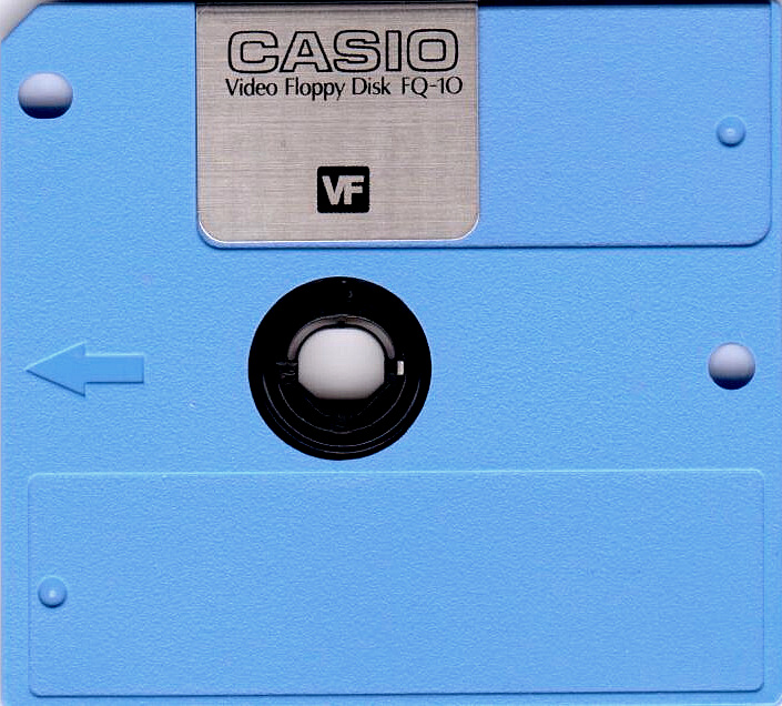 Casio Video Floppy Disk Vorderseite