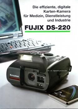 Deutsche 1995 DS-220 Broschüre (© digicammuseum.com)