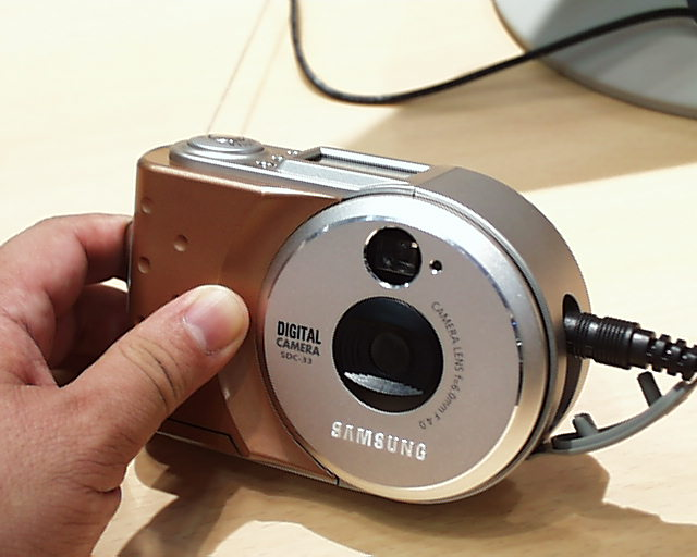 Possible picture of the Samsung SDC-30 (© watch.impress.jp)